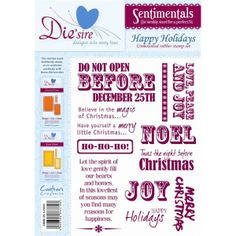 Die'sire Sentimentals A5 Unmounted Rubber Stamps