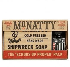 Dárková sada na holení Scrubs Up Proper od Mr. Deodorant, Shaving, Scrubs, Packing, Soap, Bottle, Handmade, Bag Packaging, Hand Made