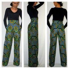 wide leg pants out of fabric from Mamu