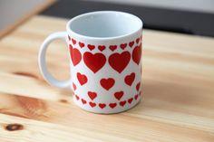 Multi Hearts Ceramic Mug Valentines