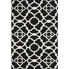 Amalfi Collection Hand Hooked Wool Area Rug in Black and White by BD... ($44) ❤ liked on Polyvore featuring home, rugs, wool rugs, black and white wool rug, black white area rug, black white rug and black and white area rugs