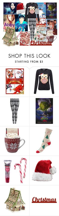 """Watching Christmas Movies Sam/Abby"" by softballnumber4 ❤ liked on Polyvore featuring Lipsy, Pilot, Hershey's, Villeroy & Boch and Sixtrees"