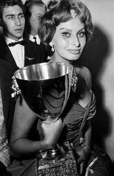 Sofia Loren nel 1958 - Festival del cinema di Venezia