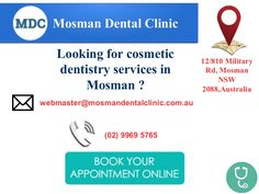 Grab the chance to get pain free #dentistry_service at #Mosman_Dental_Clinic with the latest equipments. Come at Mosman Dental Clinic and get hygienic surroundings and we feel pride in taking care of our customers. Call us today!