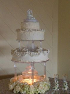 water fountain wedding cake stand orchids and water wedding cake cakes 21679