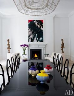 A London dining room designed by Francis Sultana | archdigest.com