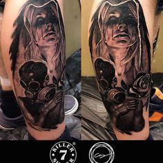 Finished @rockandart #huskvarna #sweden #killersilverink @killersilverink @inkmachines @stencilstuff @hustlebutterdeluxe #vikinktattoostudio #vikink#fredericia#denmark#cemvikink #tattoo #tattoolife #tattoodo #tattoolifemagazine #tattooartistmagazine #inklife #inkedmag #skinartmag @skinart_mag #blackandwhite #blackandgrey #bnginksociety #realistictattoos #freshlyinked #dövme #dovme #tattoomobile #sharonalday