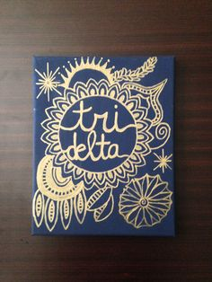 Tri Delta canvas