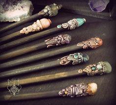 Hair sticks by EnchantedTokenArt.deviantart.com on @deviantART