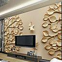 Δέντρα/Φύλλα Art Deco 3D Αρχική Διακόσμηση Σύγχρονο Κάλυψης τοίχων, Καμβάς Υλικό κόλλα που απαιτείται Τοιχογραφία, δωμάτιο Wallcovering