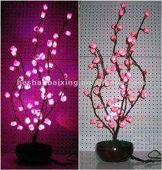 seda de la flor de cerezo led bonsai la decoración de la lámpara