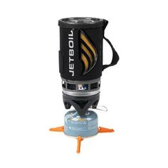 Jetboil Flash Cooking System Carbon One Size Liter FluxRing cooking cup with insulating cozy Adjustable stainless steel burner Push-button igniter Color-change heat indicator Drink-through lid with pour spout and strainer
