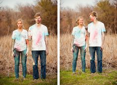 Powder Paint fight looks like fun!