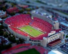Tilt shift Memorial Stadium