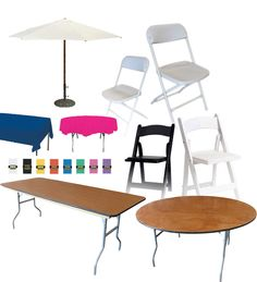 Party Table, Chair, And Tent Rentals In The Los Angeles Area For All  Parties And Events Provided By Magic Jump Rentals.