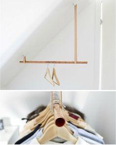 Indretningsideer til en weekend fuld af DIY projekter - Best Home Idea Mini Dressing, Creative Inventions, Garment Racks, Ideias Diy, Diy Décoration, Diy Interior, Interior Design, How To Make Bed, Home Projects