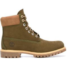 Timberland lace-up boots ($225) ❤ liked on Polyvore featuring men's fashion, men's shoes, men's boots, green, mens green leather shoes, mens leather boots, mens leather lace up shoes, timberland mens shoes and mens lace up boots