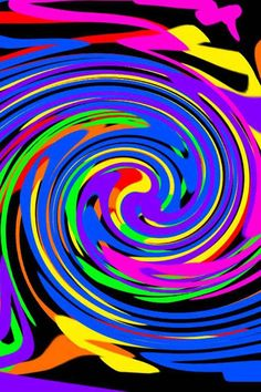 Crazy color swirls