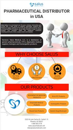 Finding authorized and approved pharmaceutical distributor in USA, then Salus Medical LLC is the one stop solution for all your medical needs with quality products and on time delivery services in all over USA.