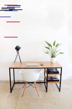 Escritorio Mesa Plegable Pared Con Espacio De Guardado - $ 4.200,00 en Mercado Libre Office Desk, Drinks, Table, Furniture, Food, Home Decor, Fold Out Table, Free Market, Desk