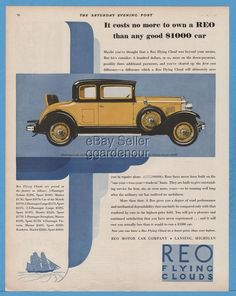 1929 REO Motor Car Company Lansing MI Flying Cloud Sport Coupe rumble seat Ad