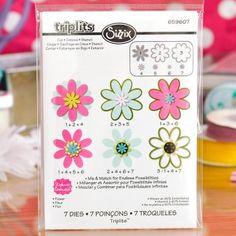Sizzix Triplits- Flower 7 Dies