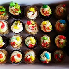 Rainbow vegan cupcake!  - fb Peekaboo Vegan Bakery