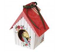 Set 4 cajas cupcakes casita pájaro