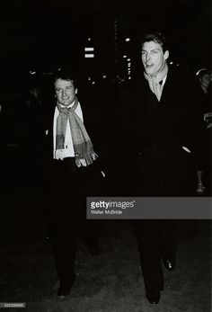 Robin Williams and Christopher Reeve Attending a Broadway Show in New York City. March 1982 �� Walter McBride / Retna Ltd.