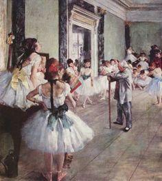 Degas, La classe di danza, 1875
