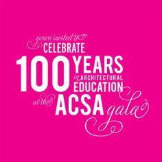 ACSA Centennial Gala Invitation on Behance Gala Invitation, Invitation Design, Invitations, Invite, Gala Design, Lettering Design, Graphic Design Inspiration, Fundraising, Typography