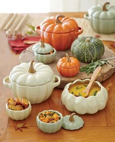 Bakers at Cost Plus World Market >> Thanksgiving Entertaini.Pumpkin Bakers at Cost Plus World Market >> Thanksgiving Entertaini. These 10 Pans Will Get You Even More Excited About Fall Cooking — Shopping Guide Fall Home Decor, Autumn Home, Autumn Fall, Thanksgiving Decorations, Halloween Decorations, Thanksgiving Holiday, Halloween Pumpkins, Ceramic Pottery, Ceramic Art