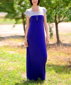 Look at this Sawyer Cove Royal Blue Clarise Maxi Dress - Women on #zulily today!