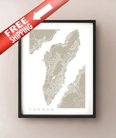 Tromso Map by CartoCreative on Etsy