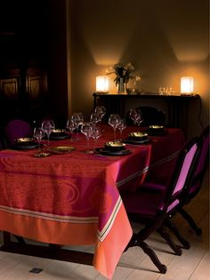 Pagoda table linen by #YvesDelorme
