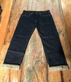 023e1017 Levi's LVC 1966 501 XX Selvedge Denim Jeans Sz 34 x 32, Big E
