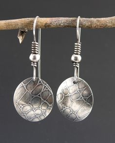 Gecko sterling silver earrings roll printed by Mikelene's Jewelry..sold