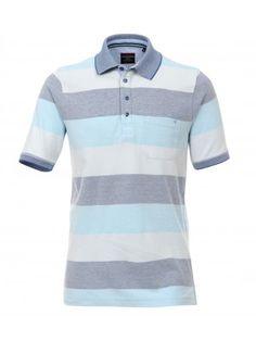 Streifen Polo Shirt