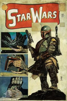 Star Wars #1 variant cover - Boba Fett by Alex Maleev *
