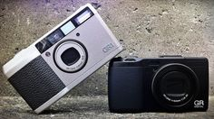 Ricoh GR-1 (1996 - 2005) -  Uses 35mm film. Point-and-shoot, fitted with a 28mm f/2.8 lens with auto focus