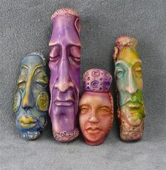 Story Beads - by DDee Wilder using Maureen  Carlson's face molds
