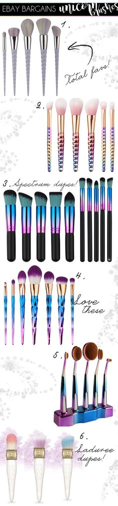 Want to be a unicorn? Well you can get near to being with these amazing makeup brush sets finds. All under £10 from eBay!
