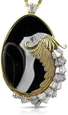 Erte Jewelry Beauty of the Beast Art Deco. Just stunning craftsmanship!