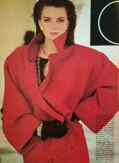Oscar de la Renta coat photographed by Arthur Elgort for Vogue, August, 1994.