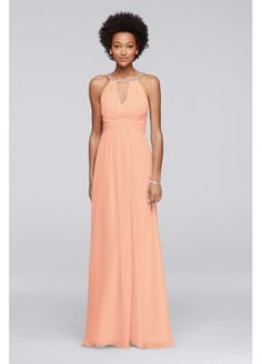 Long Sleeveless Bridesmaid Dress with Keyholes JP291746