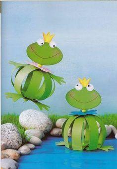"Képtalálat a következőre: ""frog kids craft"" Kids Crafts, Frog Crafts, Summer Crafts, Crafts To Do, Preschool Crafts, Craft Projects, Arts And Crafts, Paper Toy, Diy Paper"