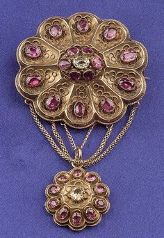 Victorian 14kt Gold, Amethyst, and Chrysoberyl Pendant/Brooch