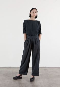 Black Crane - pleated pants - Scandi Dandies | Scandianvia Standard