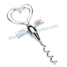 Factory wholesale WJ002 Tuxedo Heart Corkscrew Wedding gifts
