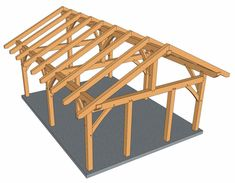 king post plan gives you plenty of ways to use it from a carport to a small cabin, get instant access to these plans that includes 33 pages. Carport Plans, Shed Plans, Diy Carport, House Plans, Pergola Attached To House, Deck With Pergola, Pergola Kits, Gazebo, Carport Designs